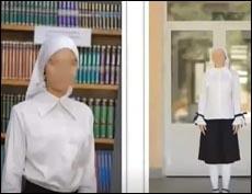 Школьницам разрешено носить светлые платки и тюбетейки
